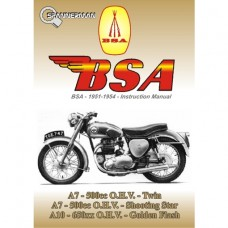 BSA - A7 and A10 - 1951-1954 - Owners Instruction Manual