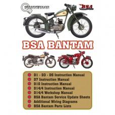 BSA - BANTAM D1, D3, D5, D7, D10, D14/4 - Workshop Bible