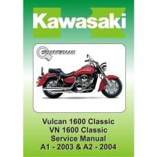 Kawasaki - VN 1600 Vulcan A1 & A2 - Service/Workshop Manual