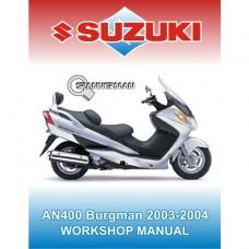 Suzuki - AN 400 Burgman 2003-2004 Service/Workshop Manual