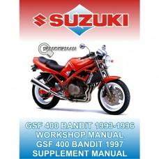 Suzuki - GSF 400 - Bandit Four - 1993-1996 - Workshop Manual