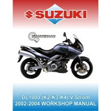Suzuki - DL 1000 - V Strom - 2002-2004 Service/Workshop Manual