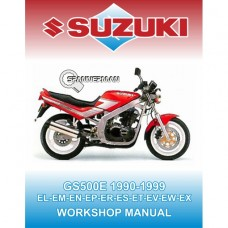 Suzuki - GS 500 E - 1990-1999 Service/Workshop Manual