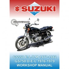 Suzuki - GS 550 and GS 750 1976-1982 Service/Workshop Manual