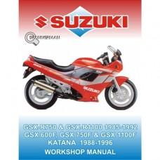 Suzuki - GSX 600F - 750F - 1100F - R750 - R1100 - 1985-1997
