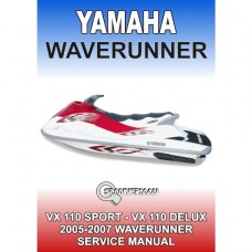 Yamaha - VX 110 WaveRunner - 2005-2007 Service/Workshop Manual